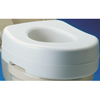 "bathroom aids: Apex-Carex - Raised Toilet Seat 5-1/2"" White 300 lbs."