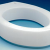 "bathroom aids: Apex-Carex - Raised Toilet Seat 3-1/2"" White 300 lbs."