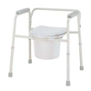 bedpans & commodes: Merits Health - 3-In-1 Commode Deluxe With Arms 16 To 22 Inch, 4EA/BX
