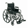 Merits Health Wheelchair Dual Axle Padded Removable Desk Arm Mag Black 16 250 lbs. MON 52124200