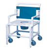 Innovative Products Bariatric Shower Commode Chair With Arms PVC 22 Inch MON 55003300