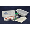 Urological Catheters: McKesson - Intermittent Catheter Tray Medi-Pak Urethral 14 Fr. Without Balloon Red Rubber
