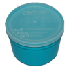 McKesson Denture Cup Medi-Pak 8 oz. Teal Snap-On Lid Disposable MON 95232900