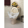 "Bathroom Aids Raised Toilet Seats: Maddak - Raised Toilet Seat with Arms 11-1/2"" White 300 lbs."
