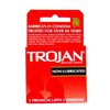 Trojan Non-Lubricated Condoms, 3 per Box MON 98572700