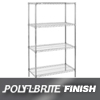 Nexel Industries Wire Shelving Starter Unit, 4 Shelves, L 54x W 21x H 74 NEX 21547Z