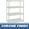 Nexel Industries Plastic Shelving Starter Unit, 4 Shelves, L 36x W 18x H 74 NEX 18367CSP