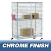 "Safety storage & security carts: Nexel Industries - Standard Security Truck, L 48""x W 18""x H 69"""