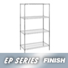 "metal shelving units: Nexel Industries - Wire Shelving Starter Unit, 4 Shelves, L 24""x W 18""x H 63"""