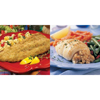 seafood: Omaha Steaks - Parmesan Crusted Trout Fillets; Stuffed Sole w/Scallops & Crabmeat