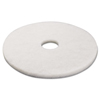Boardwalk Standard 17-Inch Diameter Polishing Floor Pads BWK 4017WHI
