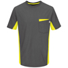 Red Kap Mens Performance Workwear Color Blocked Visibility T-Shirt UNF RT32YG-SS-L