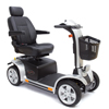 Pride Mobility Pursuit 4-Wheel Personal Mobility Vehicle PRD SC713_SLV_G24-BT_FST