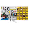 wire shelving: Quantum Storage Systems - Q-Peg Wall System Peg Board