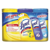 cleaning chemicals, brushes, hand wipers, sponges, squeegees: LYSOL® Brand Disinfecting Wipes