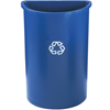 Rubbermaid Commercial Half-Round Recycling Container RCP 3520-73 BLU