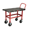 utility carts, trucks and ladders: Bench-Height Platform Truck