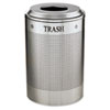 United Receptacle Rubbermaid® Commercial Silhouette Round Recycling Collection RCP DRR24TSM