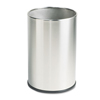 United Receptacle United Receptacle European & Metallic Series Satin Stainless Steel Fire-Safe Wastebasket RCP UB1900SSS