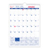 Rediform Brownline® Twin Wirebound Wall Calendar, One Month per Page RED C171101