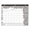 calendars: Blueline® Monthly Desk Pad Calendar with Coloring Pages