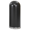 Safco-outdoor-receptacles: Safco® Dome Top Receptacle with Open Top