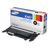 Imaging Supplies and Accessories: Samsung CLTK407S (CLT-K407S) Toner, 1,500 Page-Yield, Black