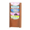 Safco Solid Wood Wall-Mount Literature Display Rack SFC 4330CY