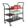 Safco Wire Utility Cart 3 Shelf SFC 5338BL