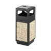 Safco-outdoor-receptacles: Safco - Canmeleon™ Aggregate Panel Ash Urn/Side Open 15 Gallon