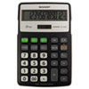 Sharp Electronics Sharp® EL-R287BBK Recycled Series Semi-Desk Display Calculator with Kick-stand SHR ELR287BBK