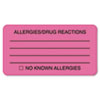 Tabbies Tabbies® Allergy Warning Labels TAB 01730