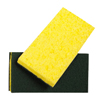 cleaning chemicals, brushes, hand wipers, sponges, squeegees: Treleoni - 74C Green Medium Duty Scrubbing Sponge