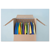 General Supply United Facility Supply Brown Corrugated Wardrobe Moving/Storage Box UFS HANGER