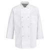 Chef Designs Mens 3/4 Sleeve Chef Coat UNF 0402WH-RG-3XL