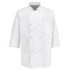 Chef Designs Mens 1/2 Sleeve Chef Coat UNF 0404WH-SS-XXL