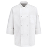 Chef Designs Mens 8 Pearl Button Chef Coat UNF 0413WH-RG-L