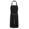 Chef Designs Bib Apron with Pencil Pocket UNF 1751BK-30-33