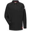Bulwark Mens iQ Long Sleeve Polo Shirt UNF QT12BK-RG-L