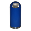 Witt Industries Push Door Dome-Top Receptacle WIT 15DTBL