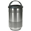Steel Receptacles With Hooded Top: Witt Industries - 35 Gallon Stadium Series Perforated Receptacle