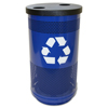 Recycling Containers: Witt Industries - 35 Gallon Stadium Series Perforated Recycling Receptacle