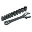 Cooper Hand Tools Crescent X6 Pass-Thru Adjustable Wrench Set W/Tray, 11 Pc, 8 In ORS181-CPTAW8