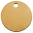 C.H. Hanson Brass Tags, 18 Gauge, 1 In Diameter, 3/16 In Hole, Round CHH337-1078B