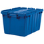 Akro-Mils Attached Lid Containers AKR39085BLUECS