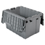 Akro-Mils Attached Lid Containers AKR39120GREYCS