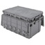 Akro-Mils Attached Lid Container AKR39160GREYCS