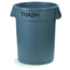 Carlisle Bronco™ Round Trash Cans - Trash - 32 Gallon Capacity CFS341032TRA23CS