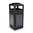 Commercial Zone Products 42-Gallon StoneTec Panel Container with Ashtray Dome Lid CZP72051399