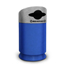 Commercial Zone Products Galaxy Series 35-gallon Mixed Recyclable Recycler Blue Base/Comet Gray Lid CZP7532434099